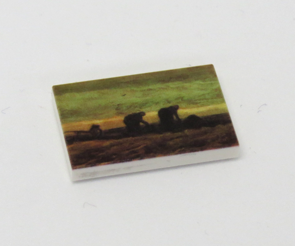 Bild von G077 / 2 x 3 - Fliese Gemälde Women in the Moor