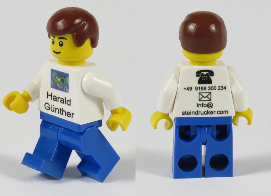 Lego Visitenkarten Minifigur